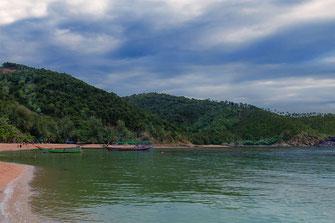 Boote am Mae Haad Beach-Koh Phangan