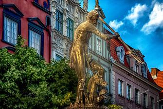 Neptunbrunnen in Danzig - Polen