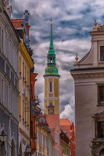 Kirchturm der Dreifaltigkeitskirche in Görlitz