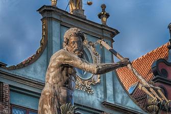 Neptunbrunnen in Danzig-Neptun