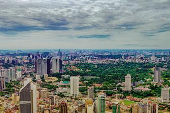 Die Skyline von Kuala Lumpur in Malaysia