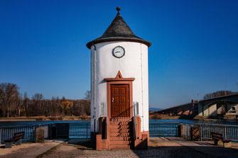 Pegelhaus in Worms am Rhein