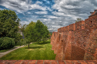 Stadtmauer in Warschau - Barbacan