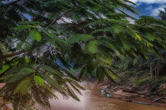 Blick auf den Mekong in Luang Prabang in Laos