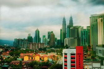 Blick auf die Twin Towers in Kuala Lumpur