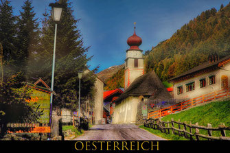 Pfarrkirche in Slingia-Südtirol-Reisefotografie Europa