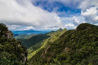 Blick von den Bergen Langkawis nach Thailands Insel Ko Lipe © Jutta M. Jenning