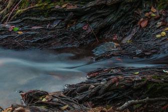 Bachlauf mit Langzeitbelichtung, seidiges Wasser © mjpics.de