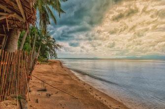 Thong Sala Beach auf Koh Phangan-Die Wolken lichten sich