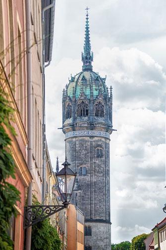 Turm der Schlosskirche in Wittenberg