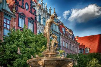 Neptunbrunnen in Danzig