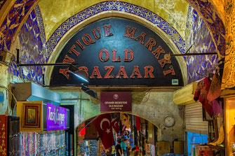 Eingang zum großen Basar in Istanbul