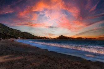 Ein Strandtag auf Koh Samui geht zu Ende ♦ Sonnenuntergang