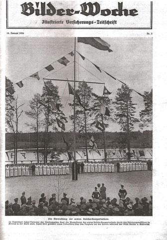 [Quelle: Bilder-Woche, 18. Jan. 1936. Einweihung der 1. Reichsseesportschule]