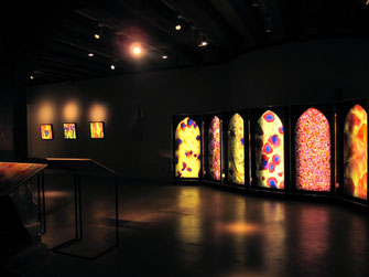 #SylvieLander-Light cases-Vitraux nomades-Ateliers de la Seigneurie-Andlau-Sylvie Lander