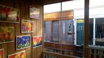 Sylvie Lander-Peintures-Passage Jouffroy-exposition