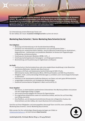 Marketing Data Scientist (m/w)