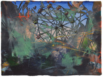 ANDREA DAMP, Schneller leben, 2019, Öl und Acryl auf Leinwand, 30 x 40 cm, € 1.400,--