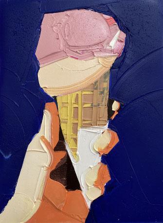 UNTITLED, 2020, Öl auf Leinwand, 60 x 45 cm