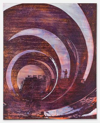 JAN MUCHE, Innensicht, 2020, Acryl und Tusche auf Leinwand, 150 x 120 cm