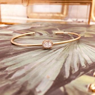 gwapita bracelet jonc doré zirconium