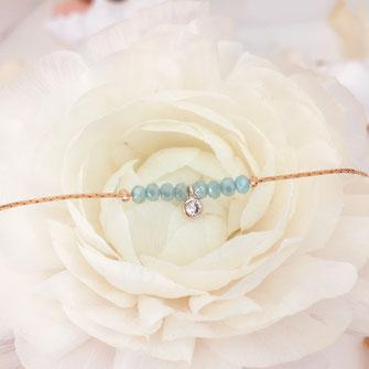 bracelet melchior caraibe turquoise bleu fin doré