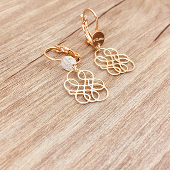 gwapita bijoux infinity boucles d'oreilles lignes doré