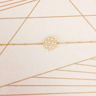 création française france bracelet doré fin plaqué or perles reflets bijoux femme  jewels  gwapita doré dentelle
