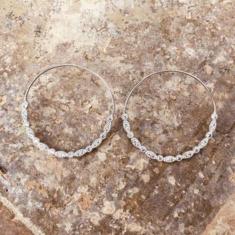 boucles d'oreilles gwapita bijoux longues argent argenté Celestine