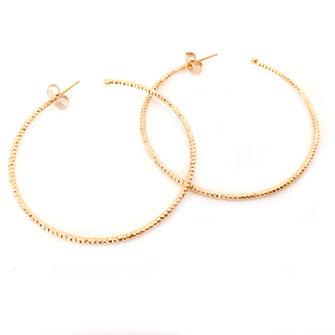 créole boucles d'oreilles gwapita sculpté doré plaqué or gwapita