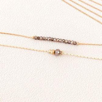 bracelet doré plaqué or fin Gwapita bijoux créatrice française france marron perles fin