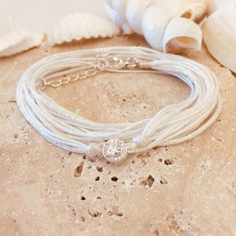 bracelet gwapita Adèle blanc