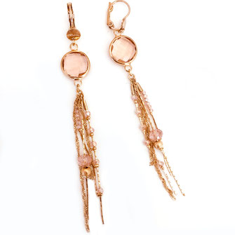 gwapita boucles d'oreilles gloria bijoux création doré rose