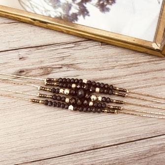 bracelet doré plaqué or fin Gwapita bijoux créatrice française france choco diva chaine perles Gustave