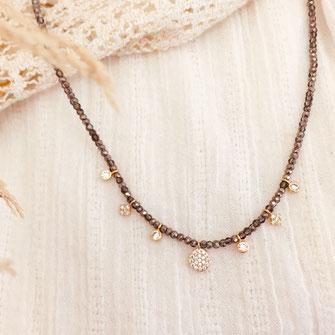Collier gwapita JASPER perles breloques zircon zirconiums