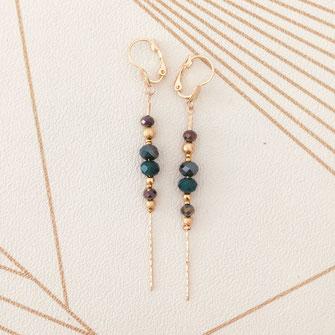 boucles d'oreilles doré gwapita bijoux best-seller longue fine chaine perless