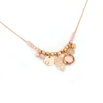 gwapita collier rose anna creation pampilles perles
