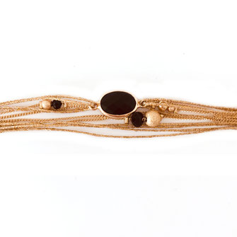 bracelet doré plaqué or fin Gwwapita bijoux créatrice française france noir