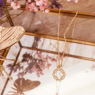 collier choker necklace gwapita bijoux français france createur fin doré plaqué or vintage ancien