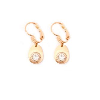 boucles d'oreillesgwapita petite oc-val doré or plaqué oxyde de zirconium diamant
