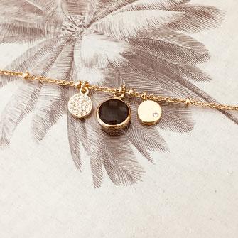 gwapita bleu montana breloques doré bracelet jewelry france