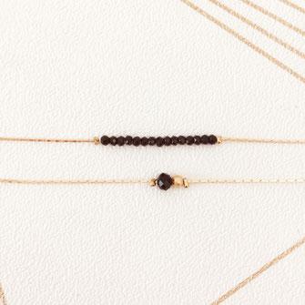 gwapita noir bijoux jewelry bracelet love new Anais doré fin or perles noir