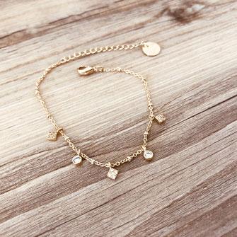 bracelet doré plaqué or fin Gwapita bijoux créatrice française france Eléonore pmapille