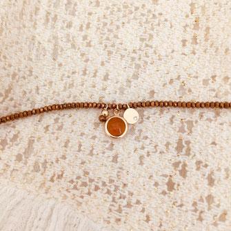 bracelet gwapita bijoux creation marcel pierre marron