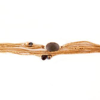 bracelet doré plaqué or fin Gwwapita bijoux créatrice française france pierre Jules montana