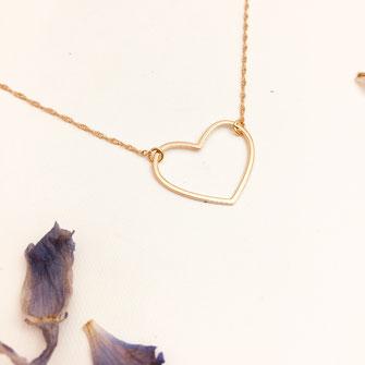 collier coeur gwapita doré