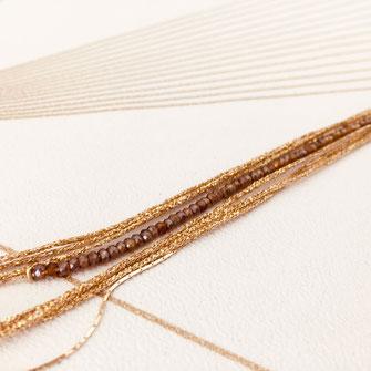 bracelet doré plaqué or fin Gwwapita bijoux créatrice française france bordeaux marsala fin perles