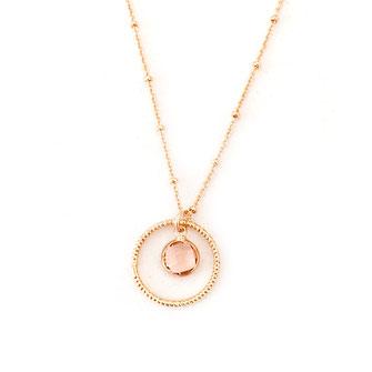 collier choker necklace gwapita bijoux français france createur fin doré plaqué or rose poudré  perles