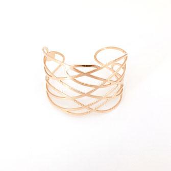 bracelet gwapita bijoux français france createur fin doré plaqué or perles  MANCHETTE INFINITY