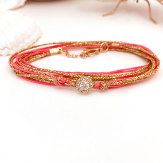 gwapita adèle corail rose oranger orange bracelet couleur été